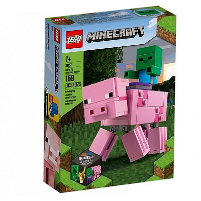 Minecraft 21157 BigFig Pig with Baby Zombie