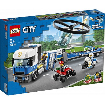 City LEGO 60244 Police Helicopter Transport