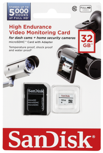 High End. microSDHC 32GB Video Monitor.