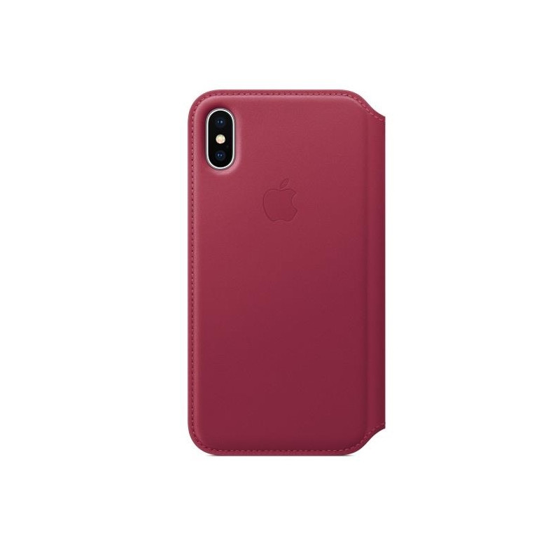 iPhone X Leather Folio Berry
