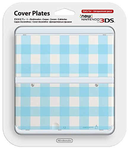 New 3DS Coverplate Blue white checked