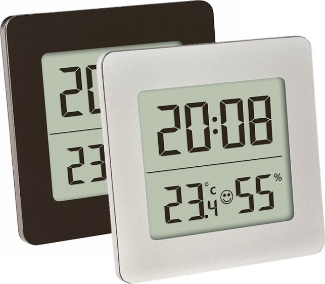 Digital Thermo Hygrometer Καφέ