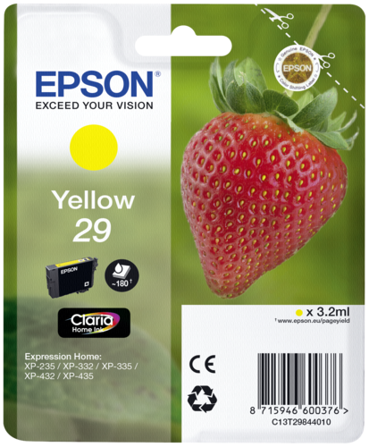 ink cartridge yellow Claria Home 29 T 2984