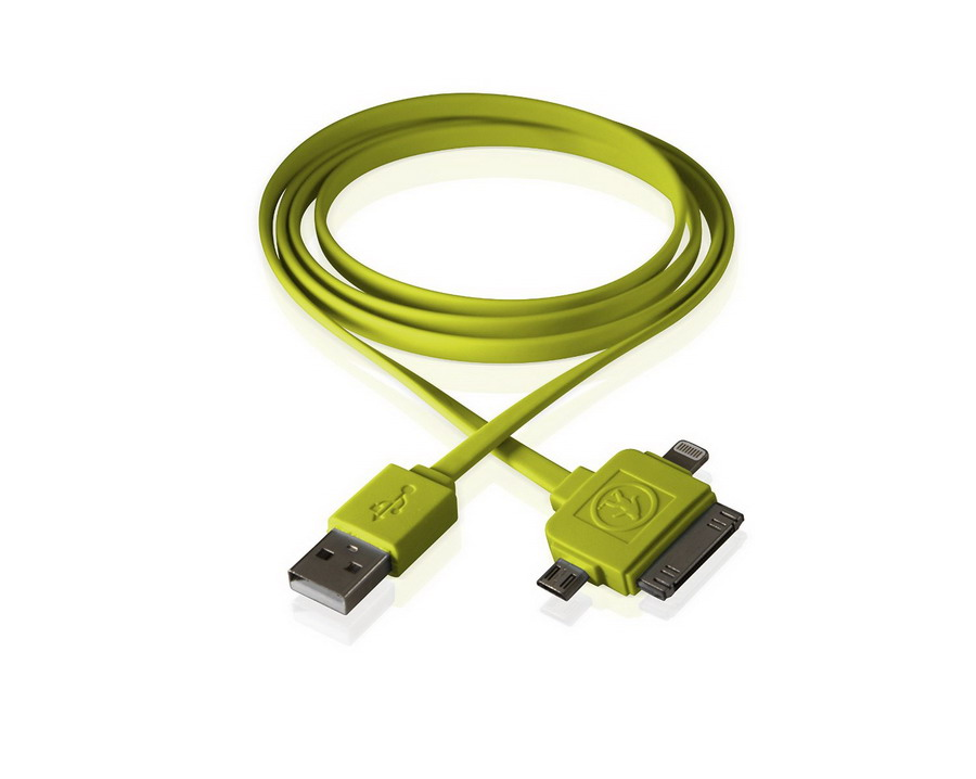 Καλώδιο Calamari  3-in-1 USB Green