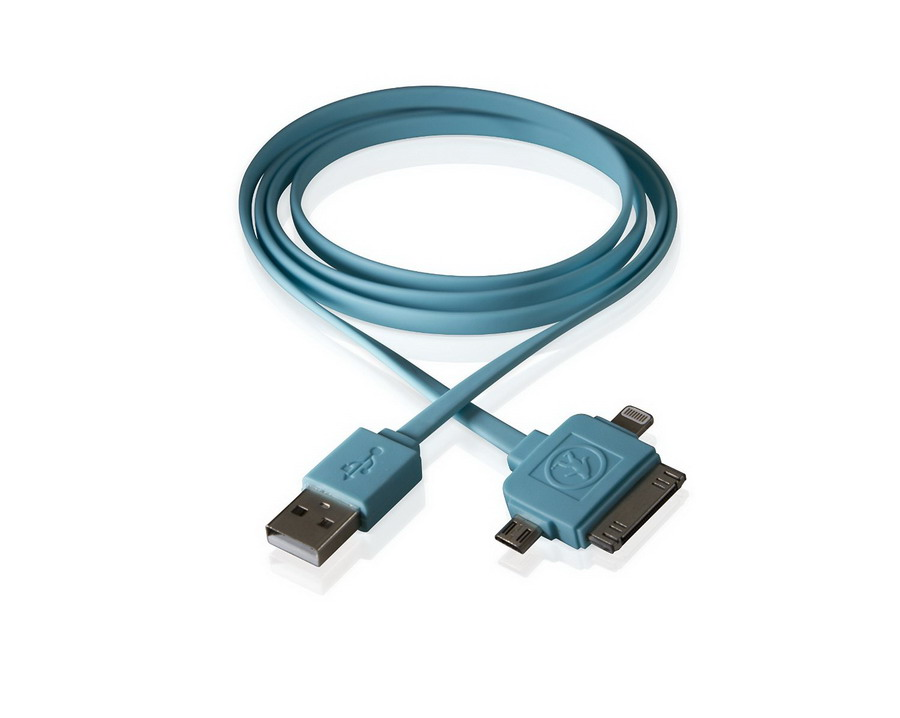 Καλώδιο Calamari  3-in-1 USB Blue