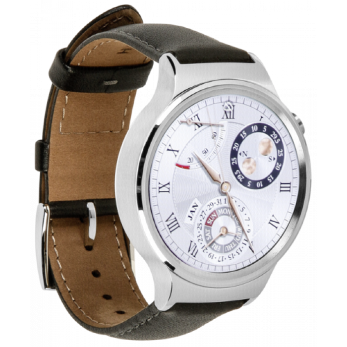 Watch Classic Leather Armband  silver EU