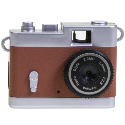 Mini Retro Digital Camera Brown