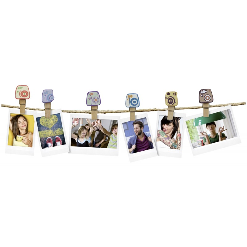 "Instax Design Clips 10-Pack ""Camera"""