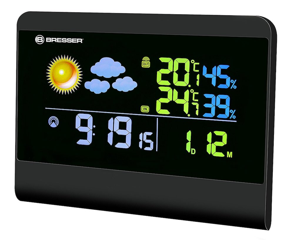 TemeoTrend Colour Radio Weather Station black