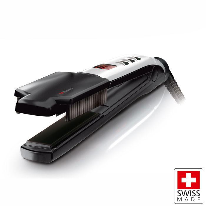 Επαγγελματική συσκευή ισιώματος μαλλιών 37W με αποσπώμενη βούρτσα 5de166e33b8