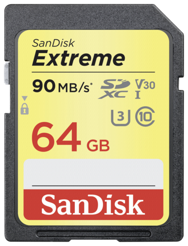 Extreme SDXC Video 64GB 90MB/s V30