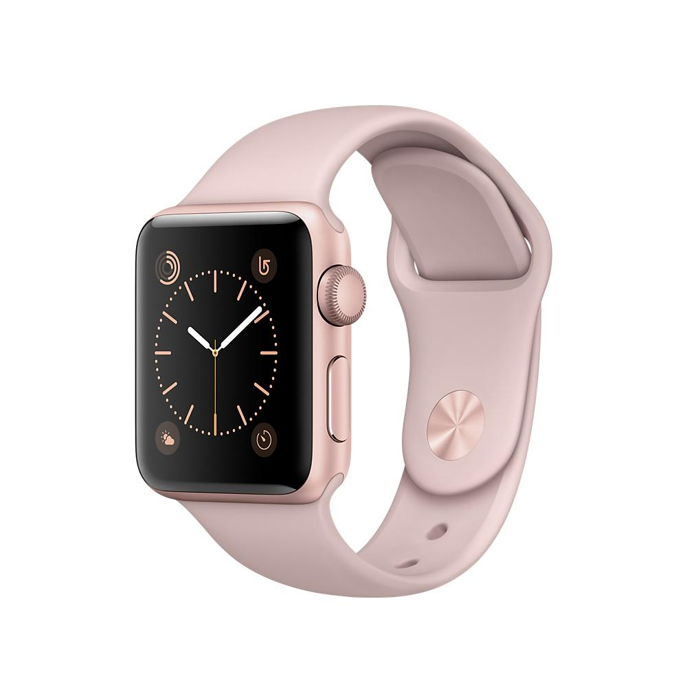 Watch 1 38mm Rose Gold Alu Case with Pink Sand Sport Band