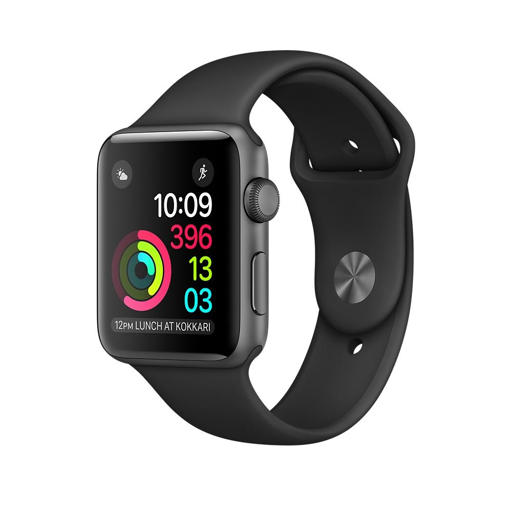 Watch 1 38mm Grey Alu Case with Black Sport Band