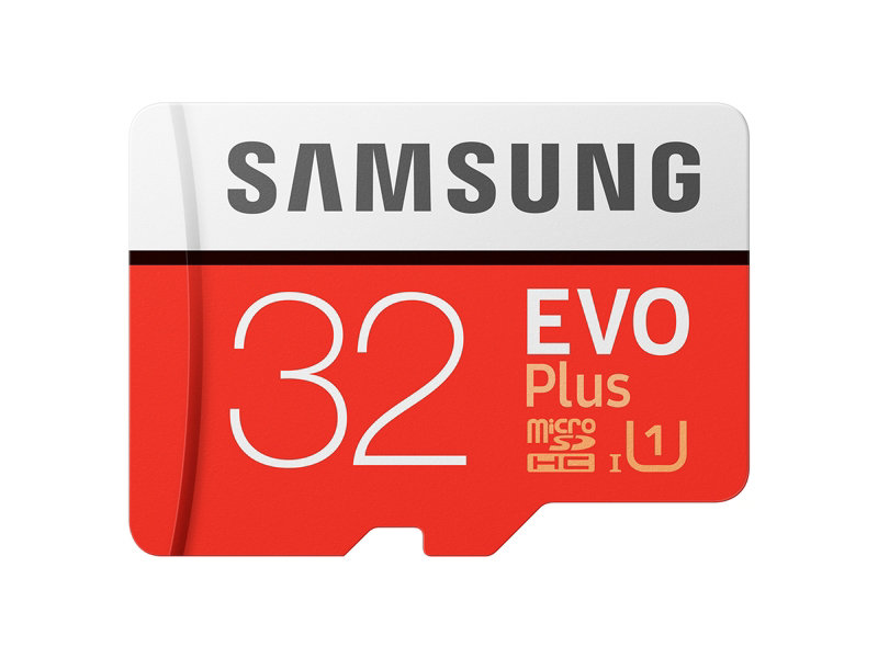 MicroSDHC EVO Plus Memory Card w/ Adapter 32GB (2017 Model)