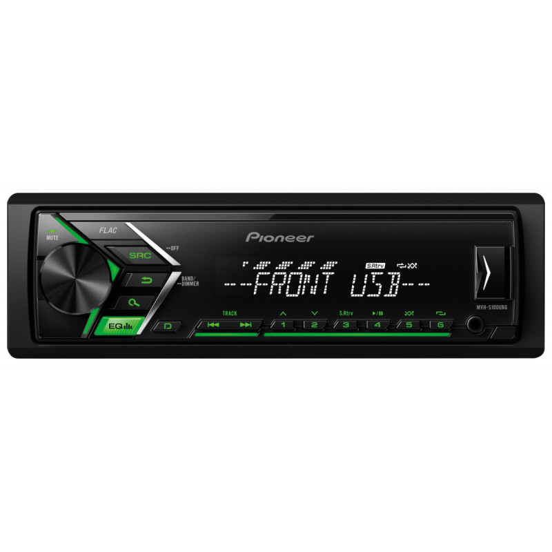 Digital car stereo with RDS tuner USB and Aux-In