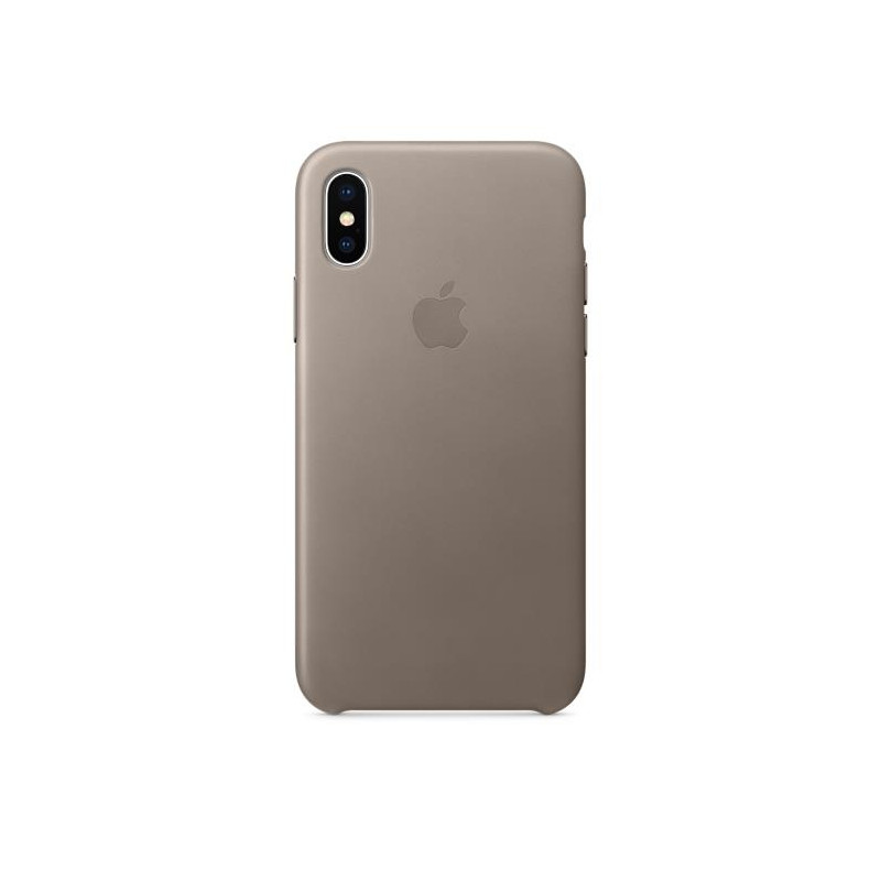iPhone X Leather Case Taupe