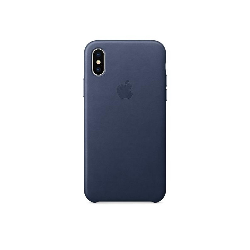iPhone X Leather Case Midnight Blue