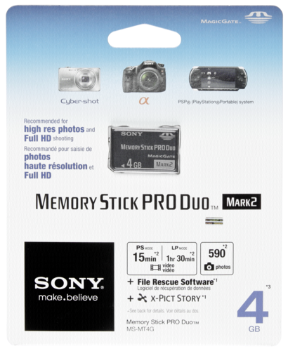 Memory Stick Pro Duo Mark 2 4GB