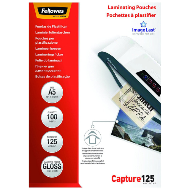 ImageLast A5 125 Micron Laminating Pouch - 100 pack