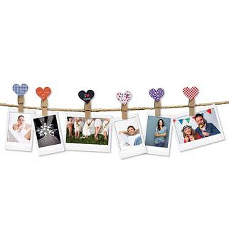 "Instax Design Clips 10-Pack ""Heart"""