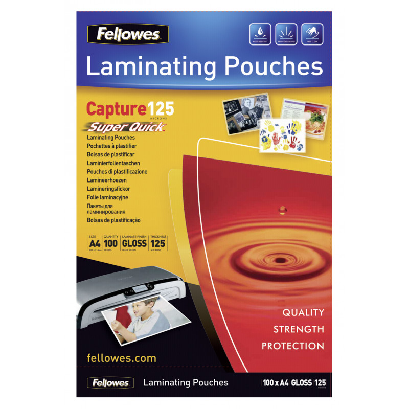 SuperQuick A4 Glossy 125 Micron Laminating Pouch