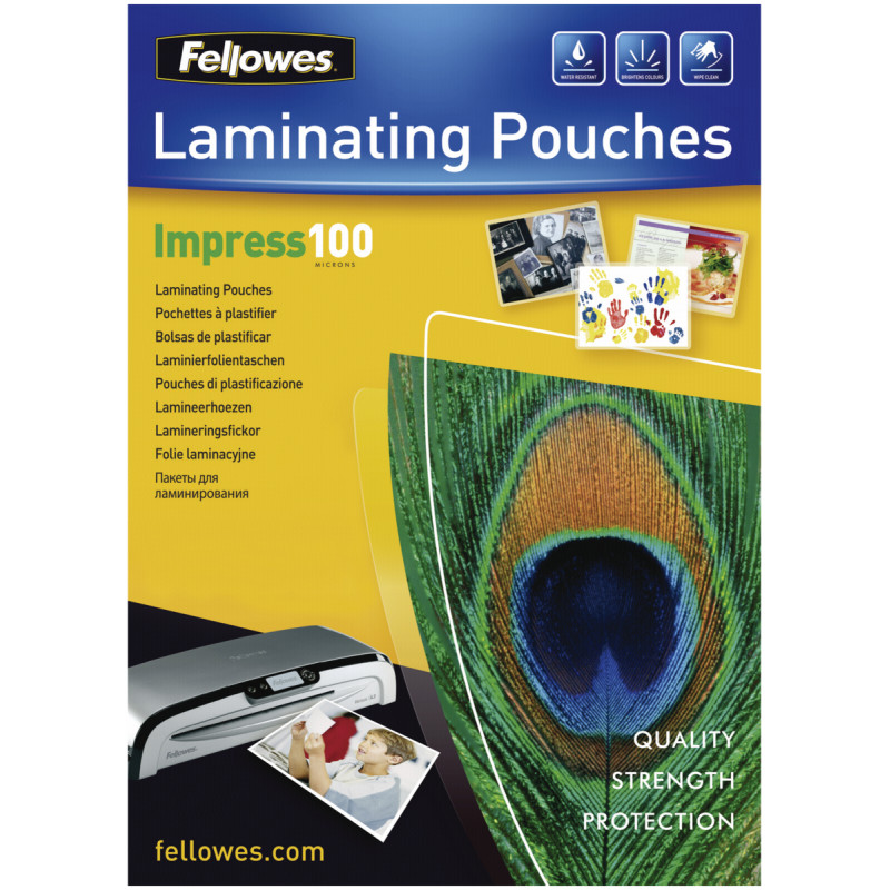 A4 Glossy 100 Micron Laminating Pouch 100-pack