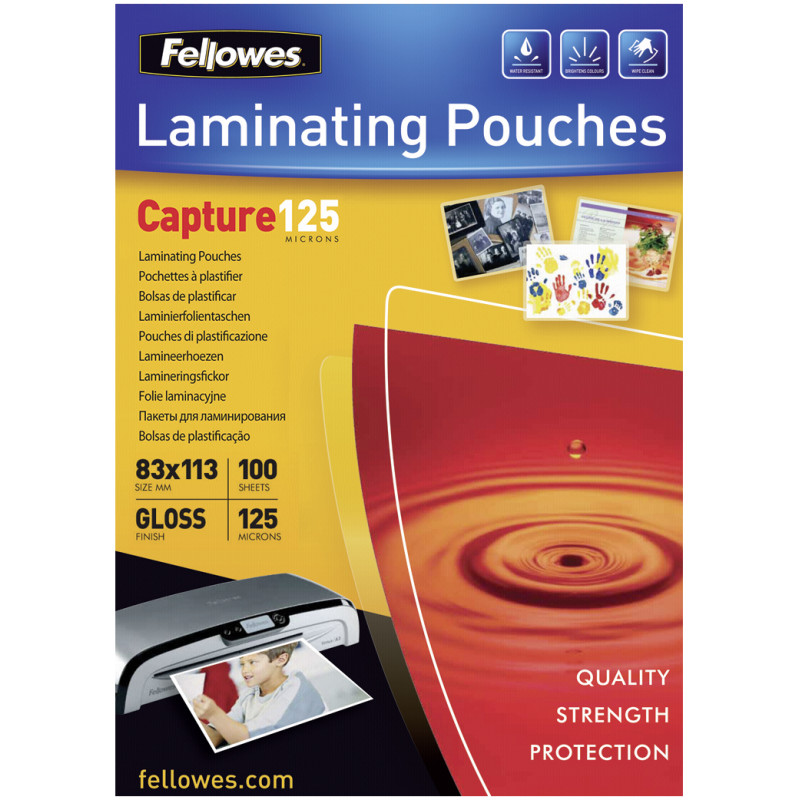 Glossy 125 Micron Card Laminating Pouch 83x113 mm