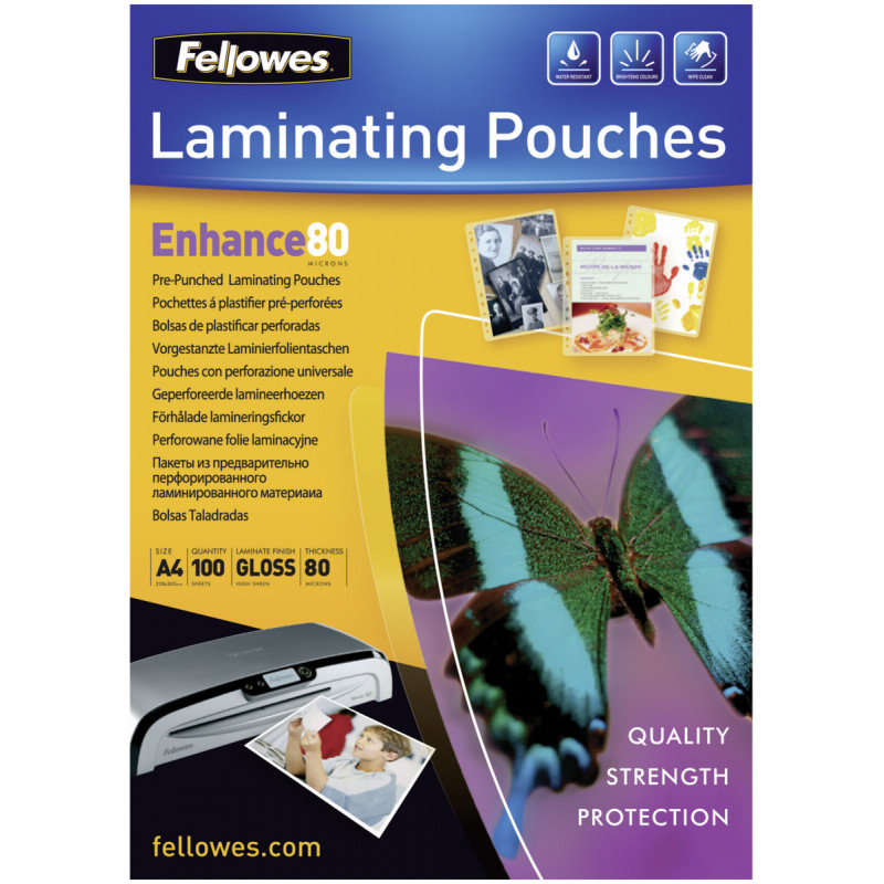 A4 pre-punched 80 micron laminating pouch