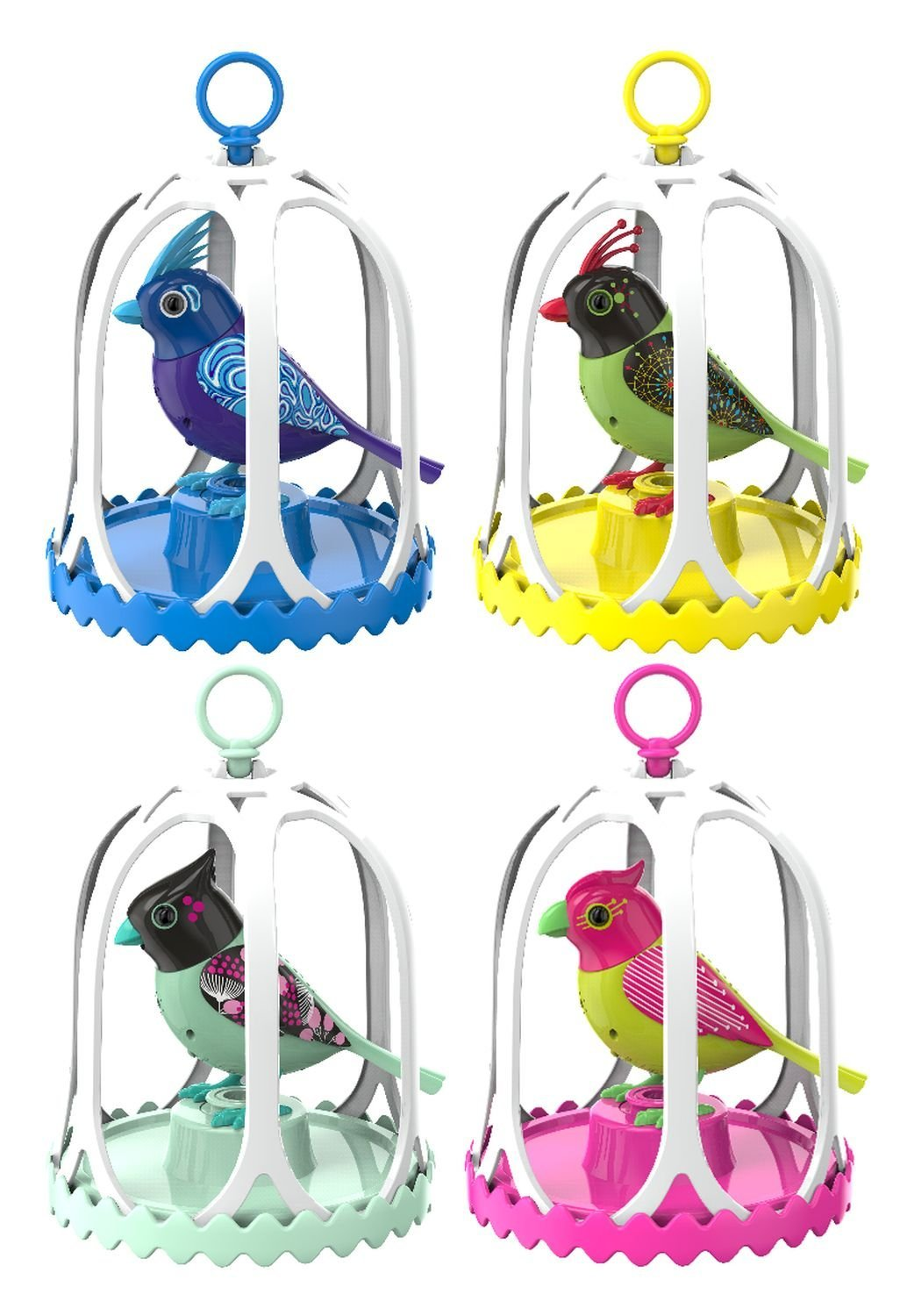 Digi Birds Collection with Cage (τυχαίο χρώμα)