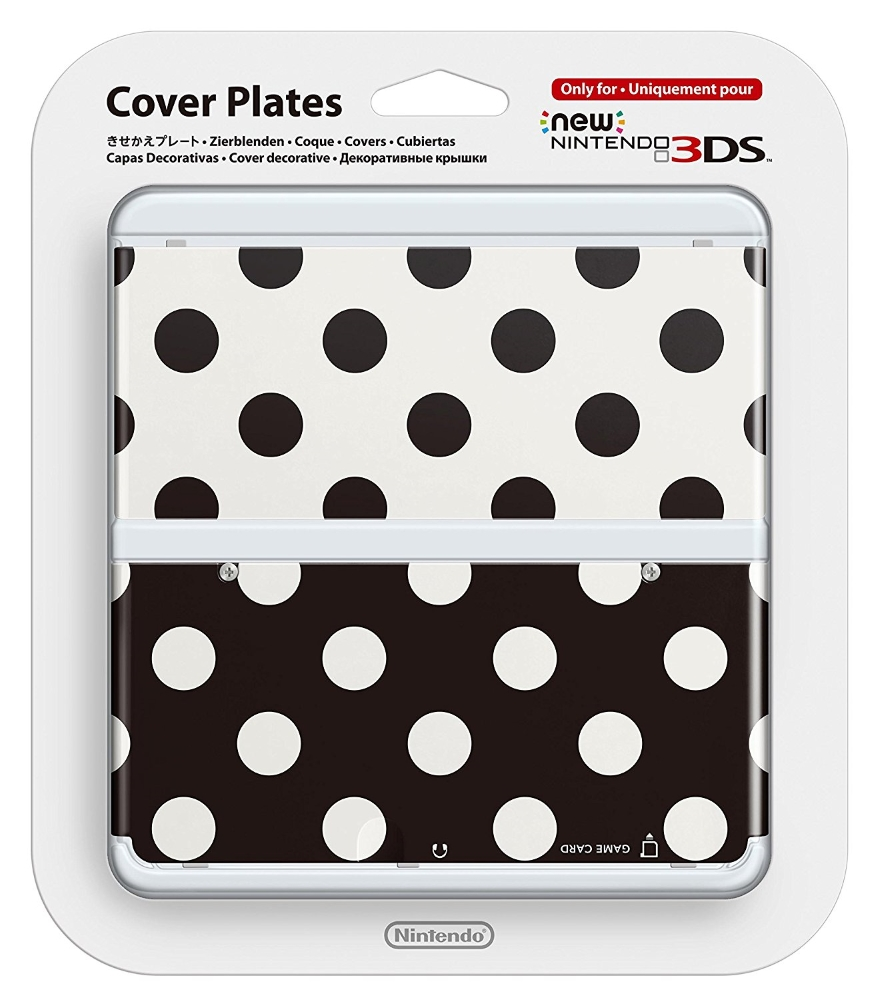 New 3DS Cover Plate 015 Points black/white