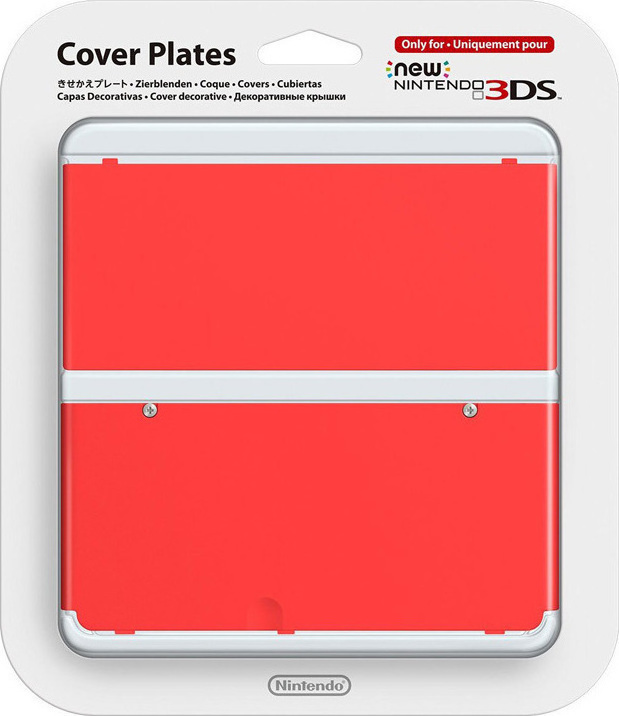 New 3DS Cover Plate red 018