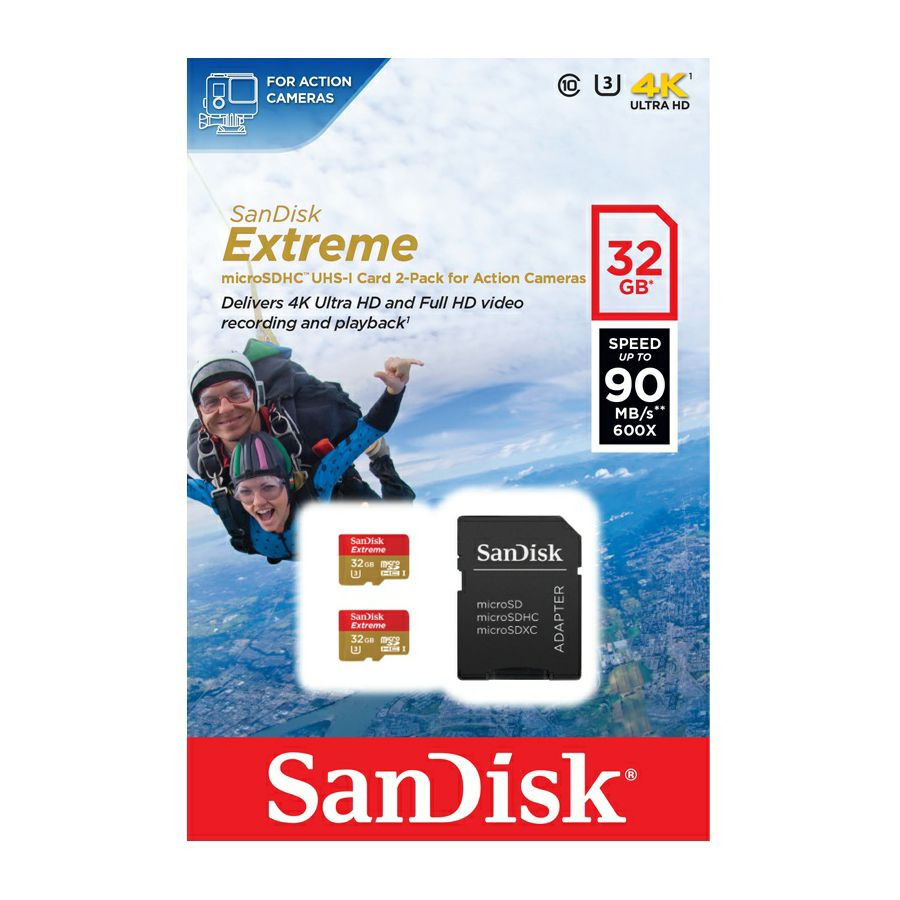 MicroSDHC ActionSC 32GB Extreme 2Pack