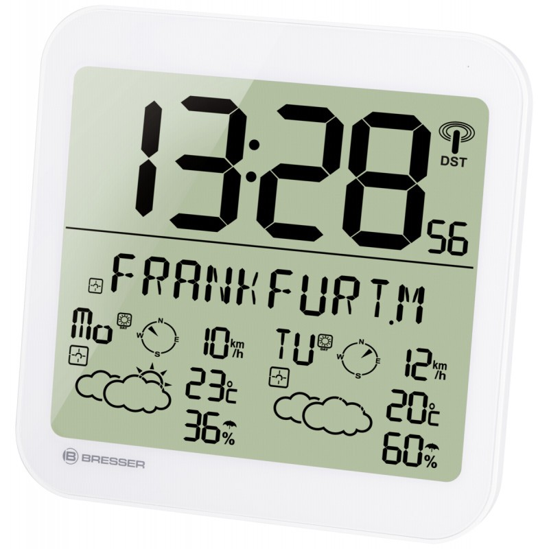 MyTime Meteotime LCD weather clock white